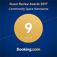 Booking.com Traveller Review Awards 2017 Nannanna